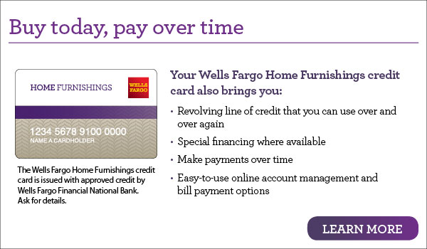 Wells Fargo Financing at Martinez Furniture   Appliance. Buy Today  Pay Over Time With Our Furniture Financing   Weslaco  TX