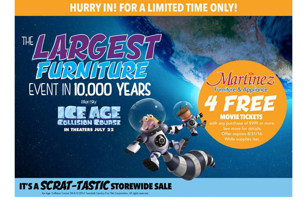 Ice Age Promotion Ad